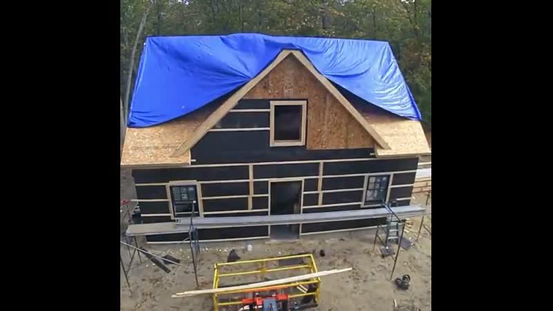 Строительство загородного домa за рубежoм в одной минуте