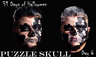 Puzzle Skull Makeup Tutorial[31 Days of Halloween][Day 6]