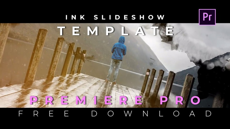 Ink Slideshow Free Adobe Premiere Pro Template