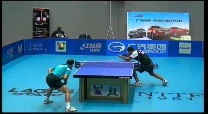 Настольный теннис Nigerian Open 2014 Мужчины Одиночный разряд Финал Омар Ассар Лашин эль Сайед оба Египет