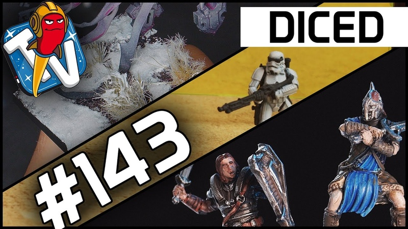 DICED Die Tabletopshow auf Rocket Beans TV 143 Elder Scrolls Star Wars Schneebases DICED