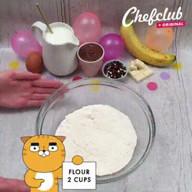 id_30000 Блинный торт с бананами и шоколадом 🍫🍌  Автор: Chefclub  #gif@bon