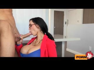 Грудастая секретарша Amy обслужила клиента (full video)