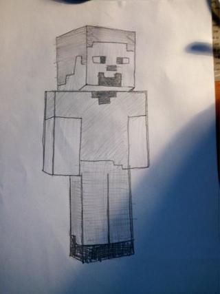 как нарисовать человека из майнкрафта #4