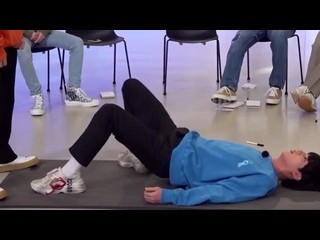 seokjin is super athletic. the core strength required to pull off this move is insane