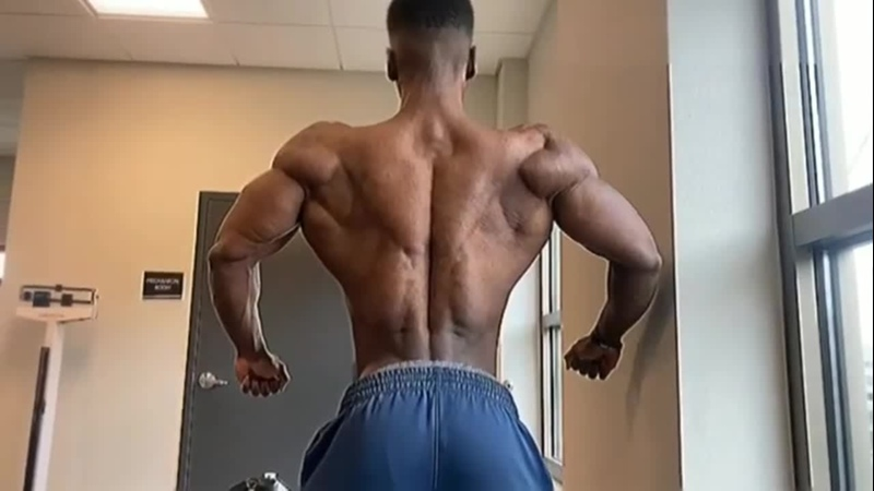 He is just 22 years old and look how shredded he is