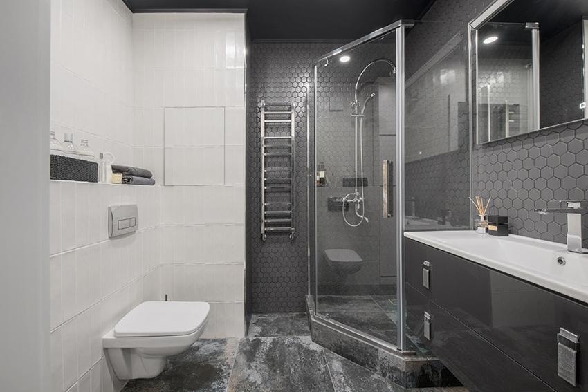 Интерьер квартиры-студии 34 м в Москве.