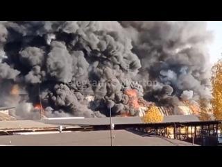 Сильнейший пожар сегодня произошёл на Партизанской...