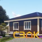 Дом из бруса 8×8 Ивановка 55.87 м²