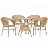 Мебель из искусственного ротанга для кафе и летних террас.