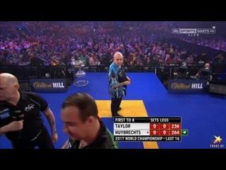 Phil Taylor vs Kim Huybrechts (PDC World Darts Championship 2017 / Round 3)