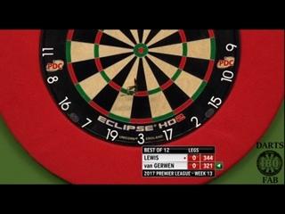 Adrian Lewis vs Michael van Gerwen (2017 Premier League Darts / Week 13)