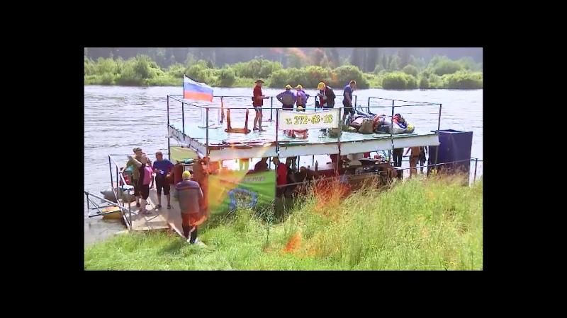 Я с друганом в экстрим круизе в Кросноярске на реке Мана
