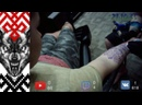 Рождественская татуировка славянского волка, кому сделать свитер с оленями на всю спину xD