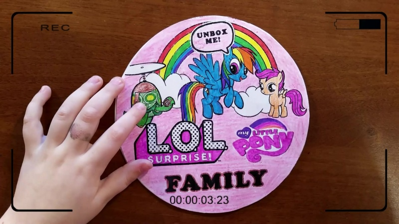 Семейка ЛОЛ Май литл пони. Бумажные сюрпризы ЛОЛ. Nyuta Play
