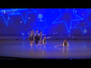 """Детский танец (5-6  лет),  """"Звездопад"""", хореограф Ольга Кучуркина -студия танца DIVA"""