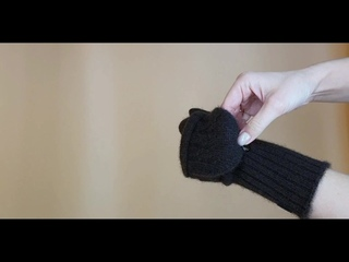 Варежки-перчатки (2в1) 100% пух яка. Сделано в Монголии