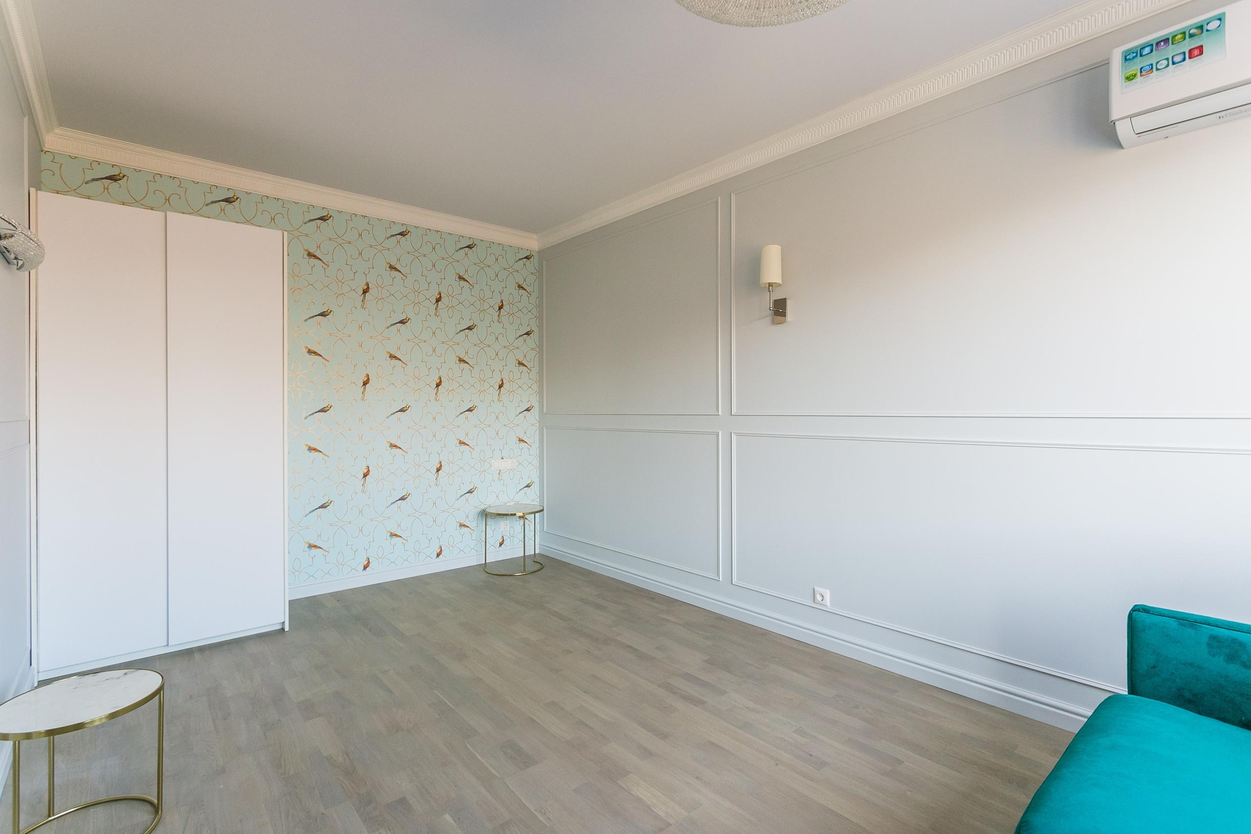Дизайн-проект и ремонт светлой квартиры-студии 40 кв.