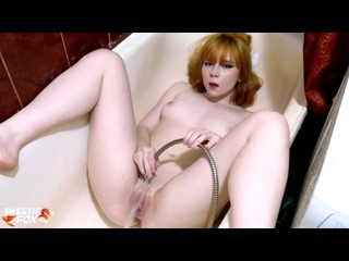 Redhead Teen Play Pussy Water Jet in the Bathroom - Sensual Solo Sweetie Fox [Amateur, Teen, Anal, Oral, Dildo, Ass, Fetish]