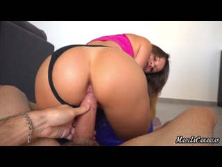 [ Madeincanarias ] Fit Girl Gets A Big Dick In Her Tight Pussy And Gets The Sperm Over Her Face - HD 1080