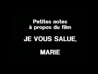 Маленькие заметки по поводу фильма.../ Petites notes à propos du film «Je vous salue, Marie» (1983) реж. Жан-Люк Годар (RUS SUB)