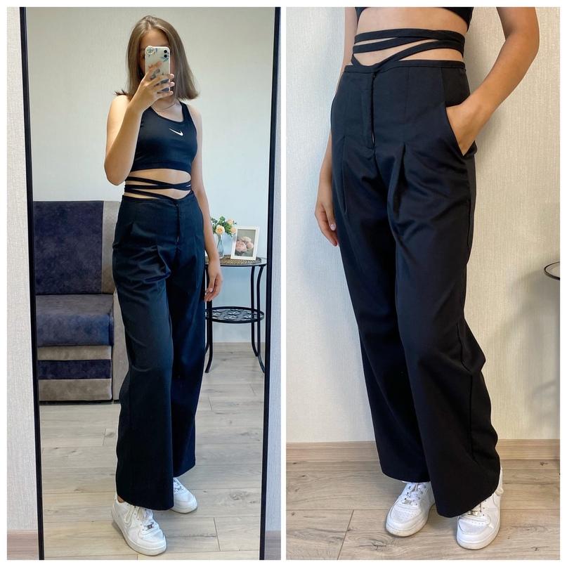Женские брюки с завязками на талии.