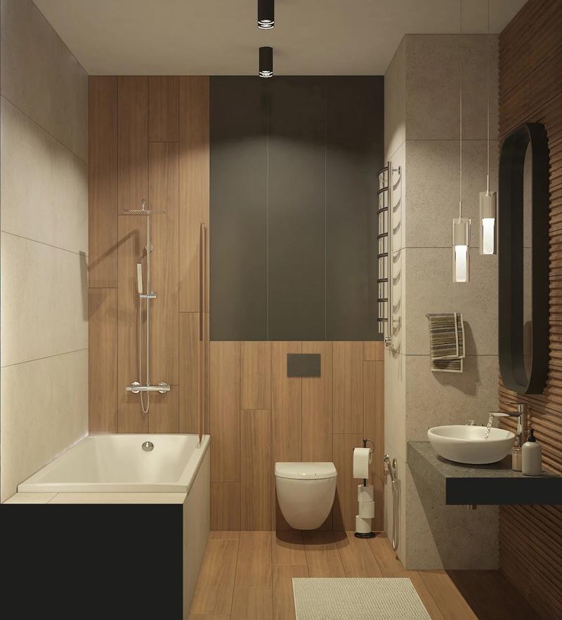 Современный проект квартиры 50 кв.