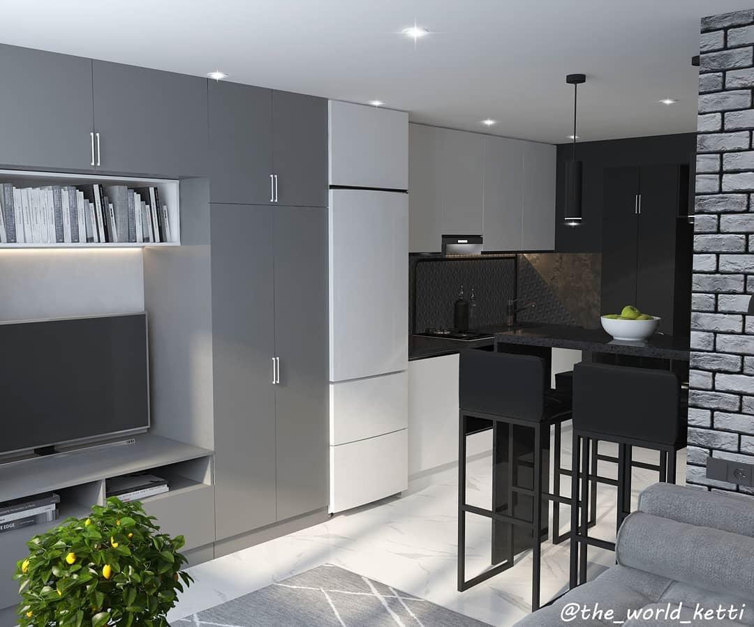Проект маленькой квартиры-студии 21 кв.