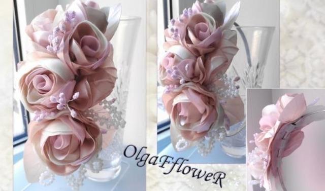 как сделать розы в технике канзаши своими руками мастер-класс пошагово, цветы из ткани своими руками,
