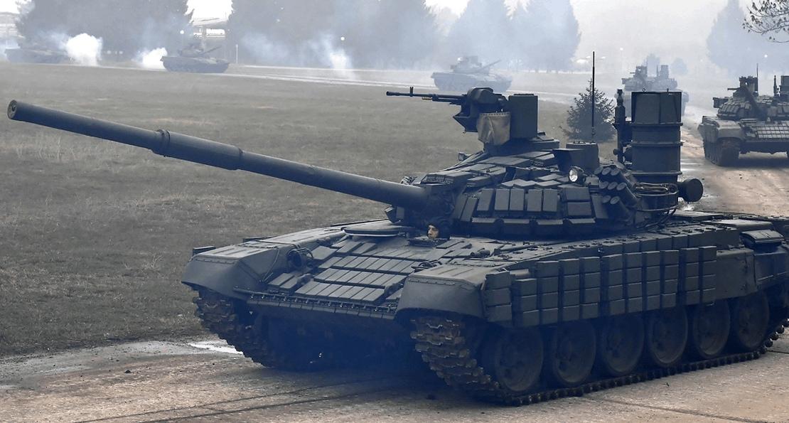 Российские танки в Сербии