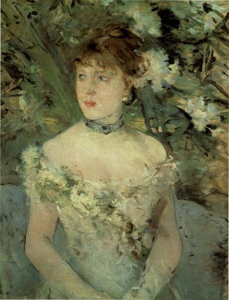 «Молодая женщина в бальном платье», Берта Моризо