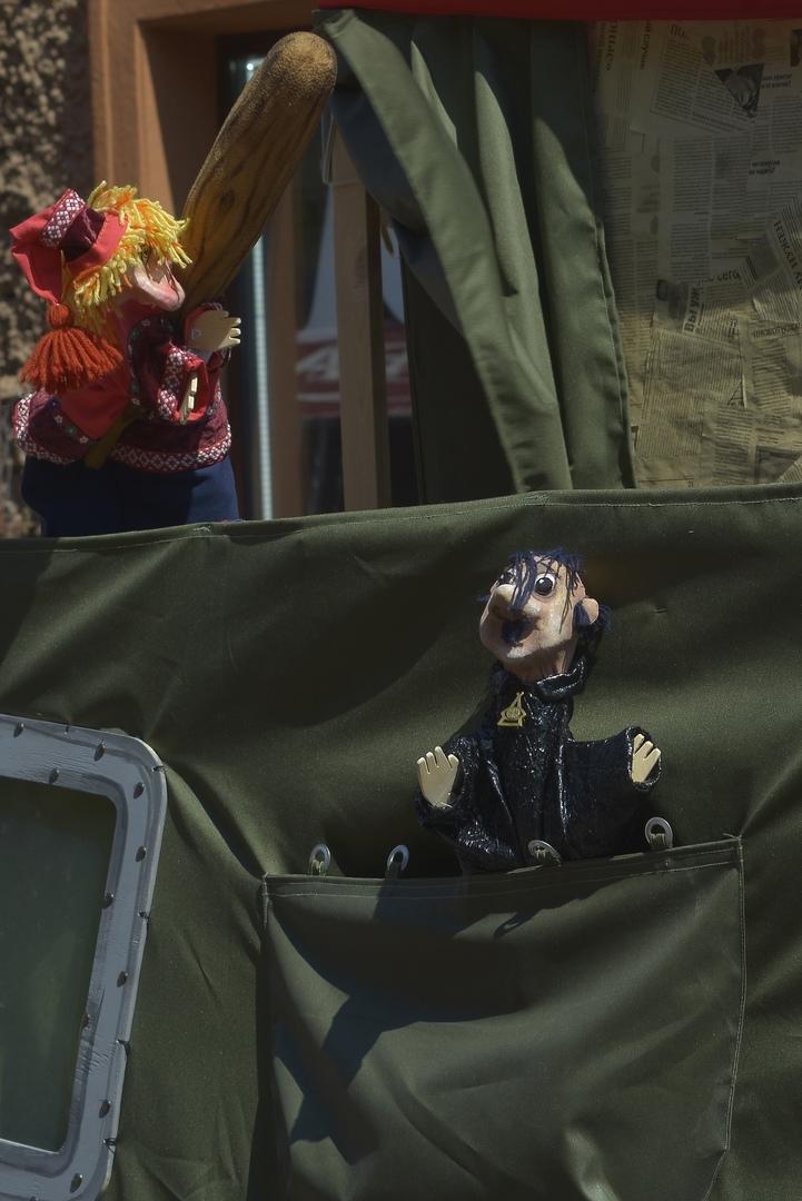 Спектакль «Петрушка на войне» Магнитогорского театра куклы и актера «Буратино»