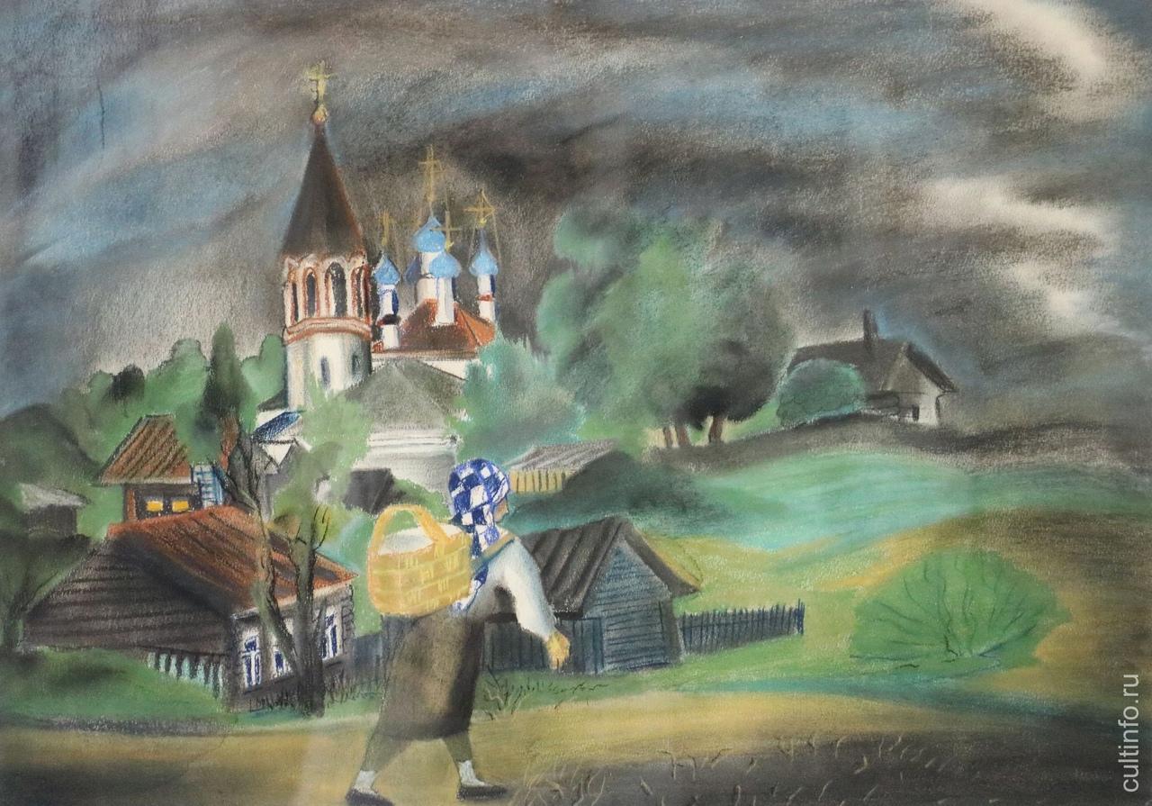 Надежда Девишева. Устюжна. После дождя. 1987