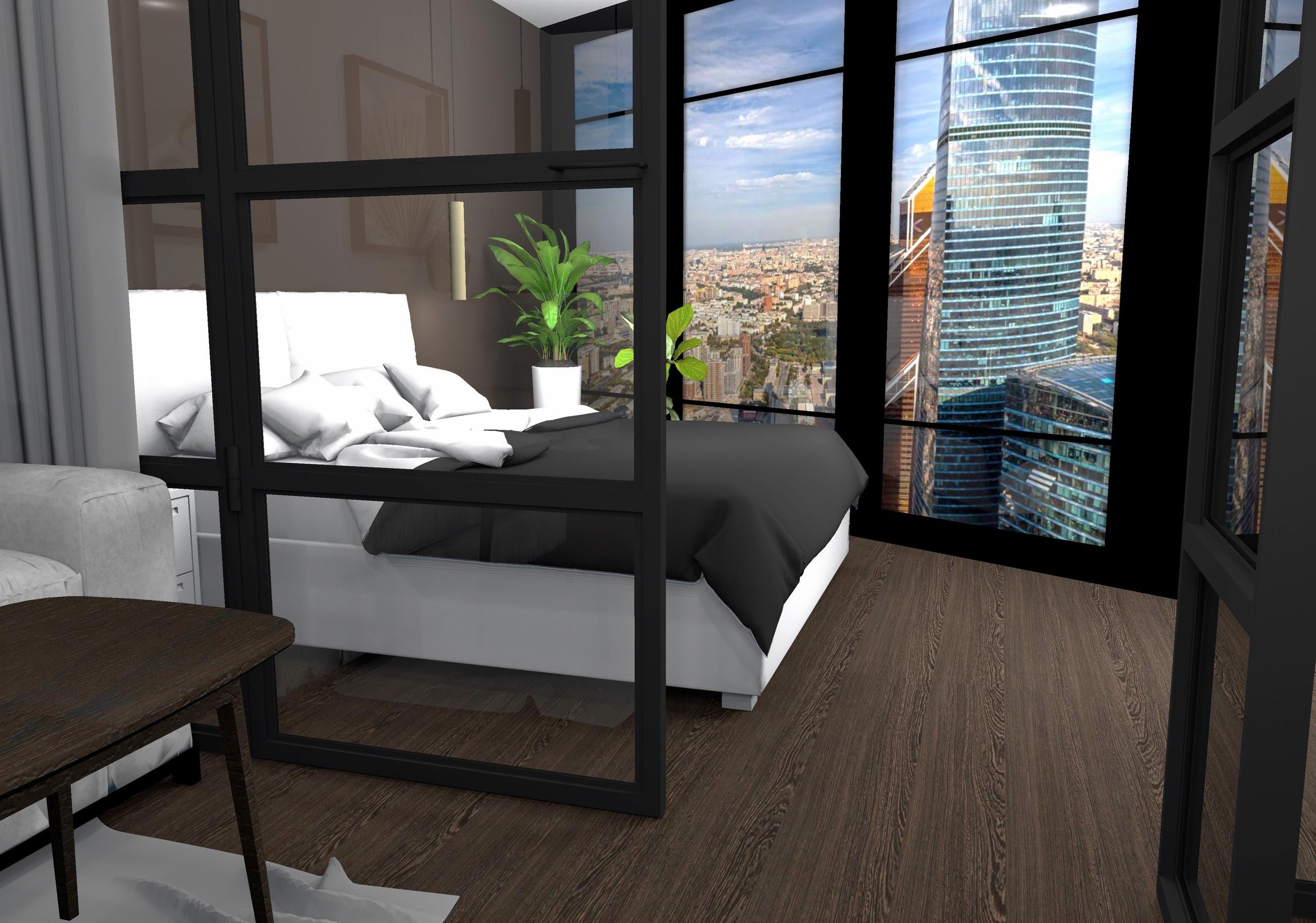 Проект апартаментов 40 кв.