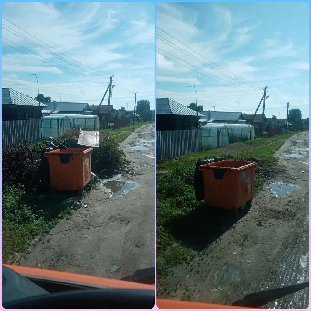 В Петровске продолжаются работы по ликвидации стихийных свалок около мусорных контейнеров, установленных на городских улицах