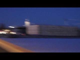 Лахта центр и вечерняя зорька над Невой. Понедельник, 22 марта 2021 г.