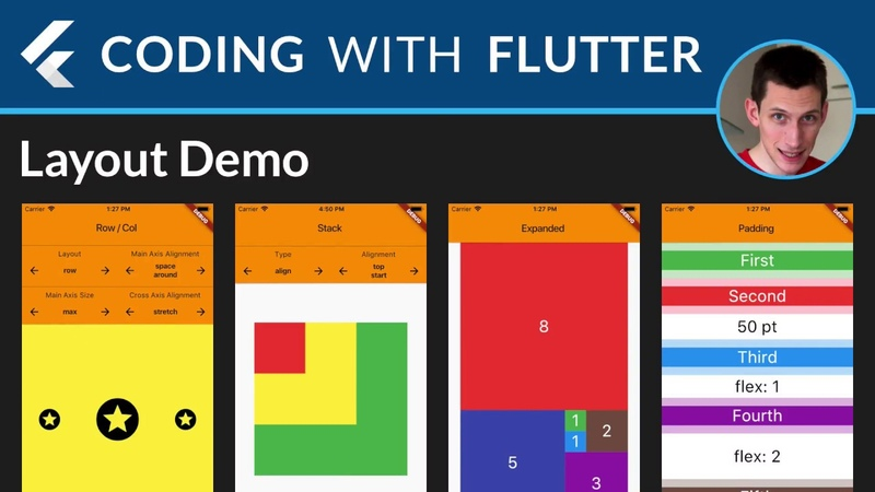 Flutter Layouts Walkthrough Row Column Stack Expanded Padding