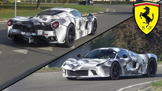 NEW 2022 FERRARI HYPERCAR SPOTTED ON THE ROAD & ON THE TRACK - Based on a Laferrari Aperta?!