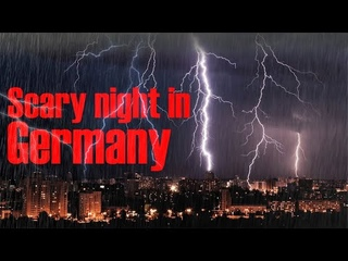 The scariest night in Germany! The lightning has done tremendous damage!