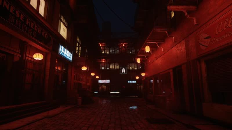 China town rain