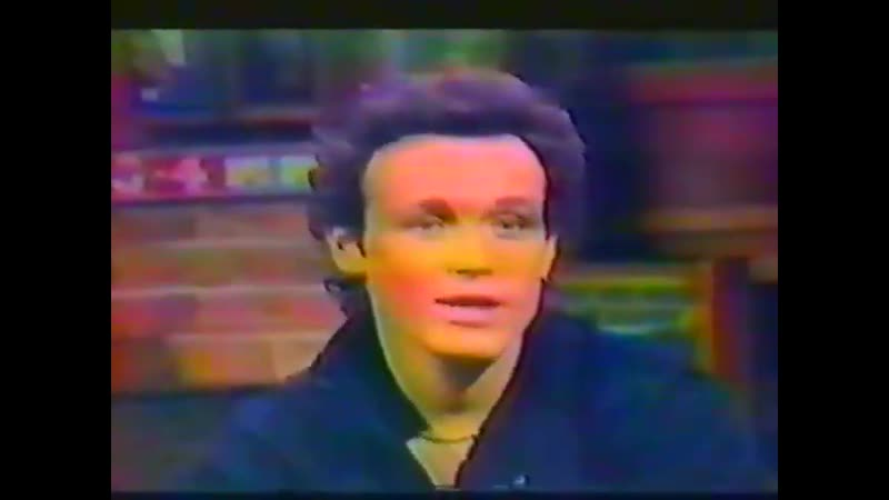Adam Ant - Interview on MTV Promoting Strip album in 1983, appears on MTV to guest VJ and for an interview