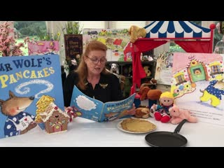 Sarah Ferguson reading Mr Wolf's Pancakes Story by Jan Fearnley