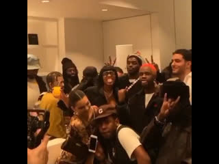 Tyler, the Creator with Dev Hynes, Kendall Jenner, A$AP Ferg, Renell Medrano, A$AP Nast, and Fai Khadra