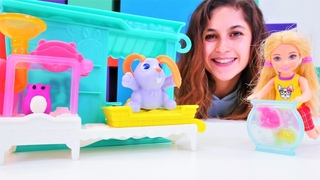 Kız videoları. Ayşe Barbie Chelsea için Play doh hayvancıklar yapıyor