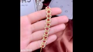 Женский браслет с инкрустацией из серебра kjjeaxcmy, инкрустированный натуральным рубином, функцией