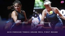 Julia Goerges vs Anastasia Pavlyuchenkova 2019 Porsche Tennis Grand Prix First Round