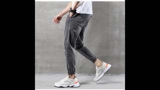 Peikong, весна 2020, новые мужские брюки, рваные, летние, синие, стрейчевые, зауженные джинсы, трендовые, мужские, прямые, на