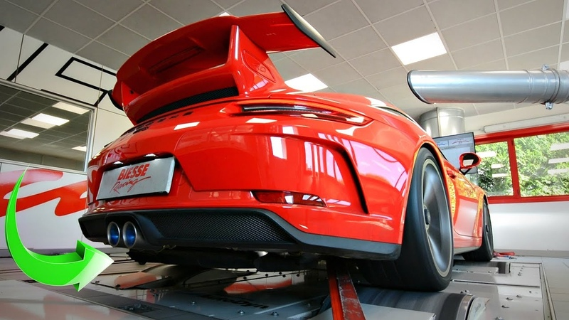 Porsche 991 2 GT3 4 0 with Akrapovic FULL TITANIUM EXHAUST Screaming on the DYNO Results