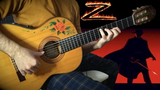 『The Mask of Zorro』meets flamenco gipsy guitarist [fingerstyle acoustic movie theme guitar cover]