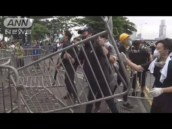 中国本土への容疑者引き渡し審議へ 反対派車道占拠(19/06/12)